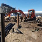 Commercial screw pilings - Banksmeadow, Anderson St
