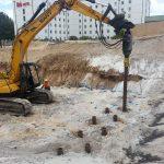 High Rise screw pilings - Mascot Pullman Hotel