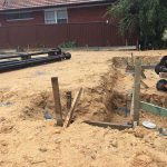 residential screw pilings - drummoyne