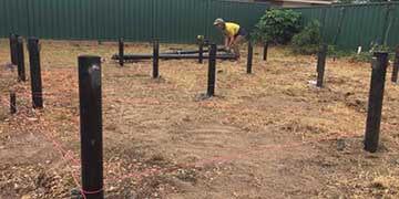 residential screw pilings