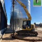 7.5m Silo Bases Screw Piling